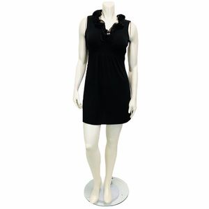 BCX black ruffled Neckline Mini Dress
